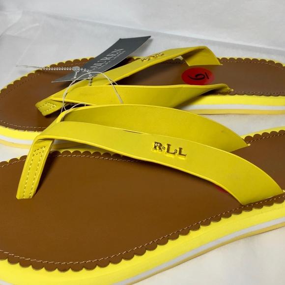 Ralph Lauren Shoes | Yellow Flip Flops